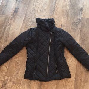 PUFFER JACKET with asymmetrical zipper